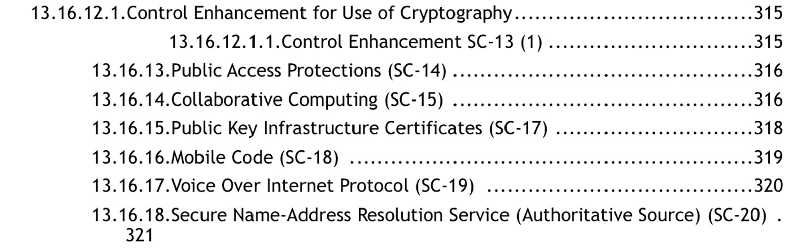 A sample of required security documentation for federal websites.
