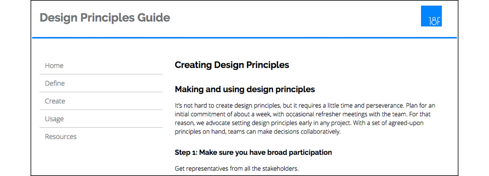 Principles Of Design List : F digital service delivery design