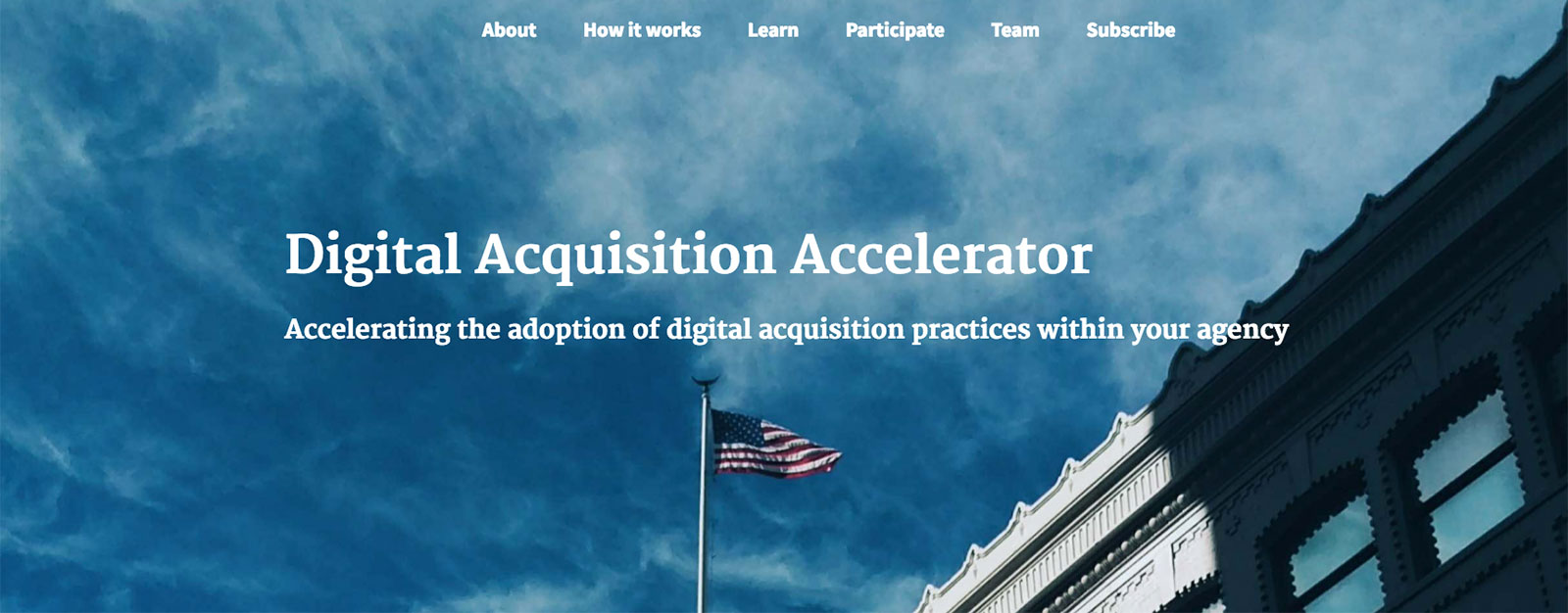 The Digital Acquisition Accelerator homepage