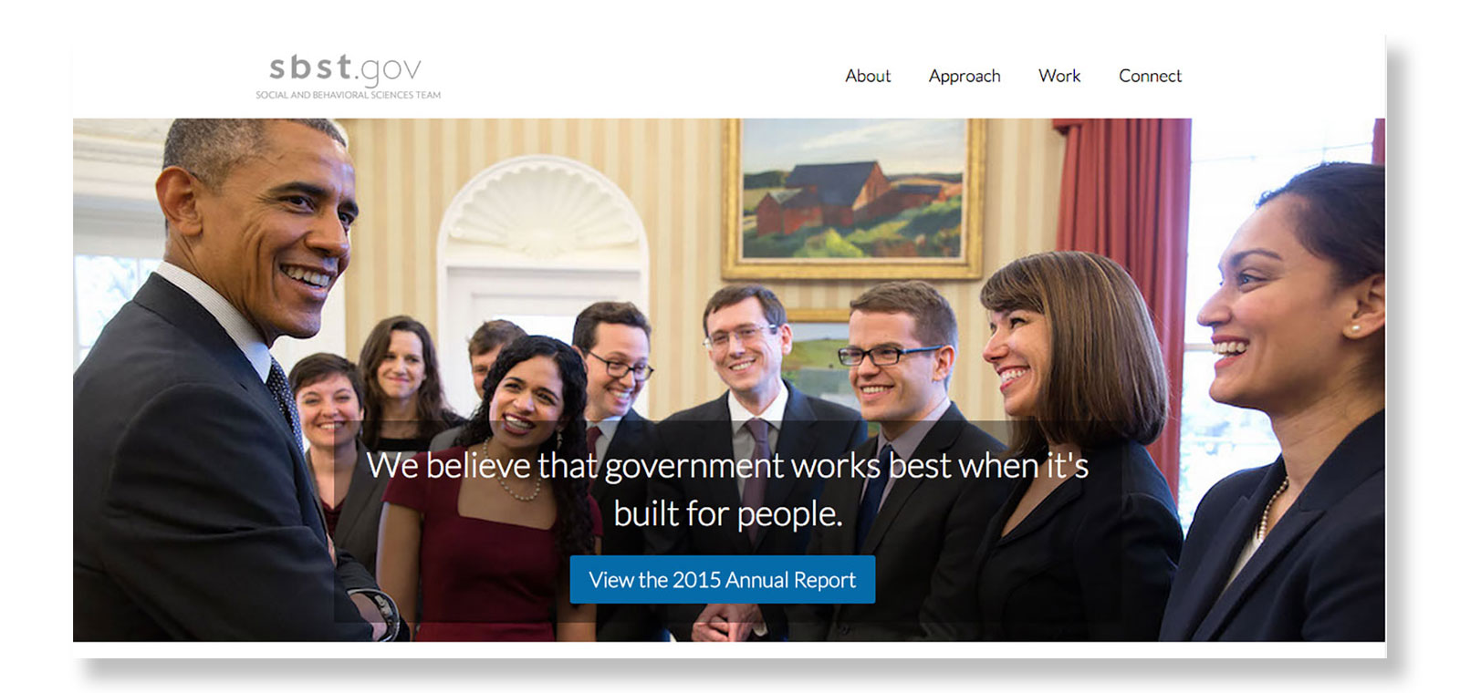 The new White House Social and Behavioral Sciences Team homepage