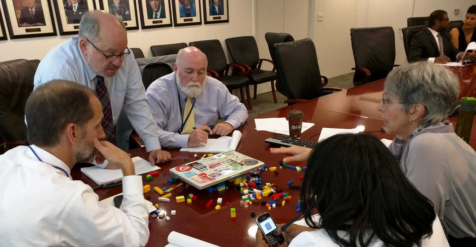 Executives from the Small Business Administration learn agile development with Legos.