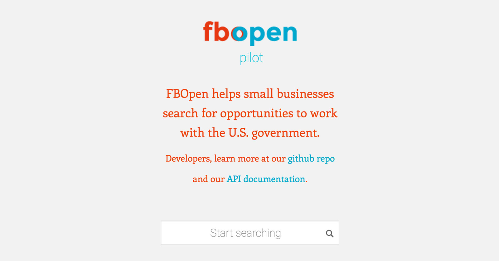 The FBopen homepage